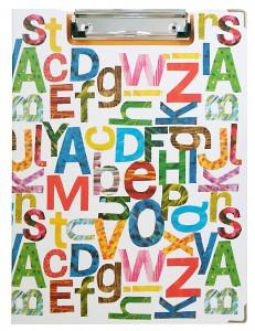 ECクリップボードアルファベットYE1